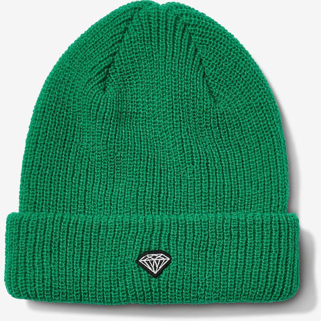 898a0ed6c Pánska čapica Diamond Brilliant Patch Beanie Kelly Green - Skateshop